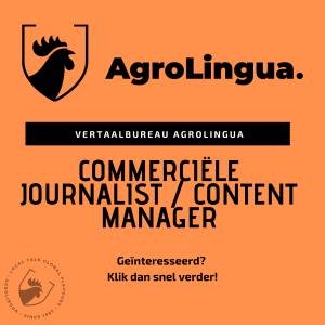 Vacaturetekst Commerciële Journalist / Content Manager